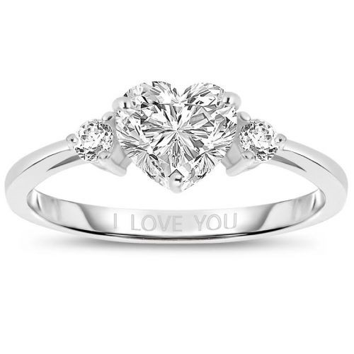 2 ctw platinum plated shaped ring