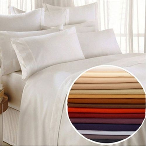 1800 series egyptian comfort 6 piece bed sheet set 12 colors available. Black Bedroom Furniture Sets. Home Design Ideas