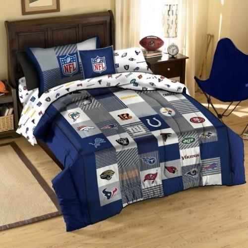 3 Piece Set 100 Cotton Nfl Quilted Comforter Amp Shams