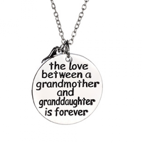 Grandmother and granddaughter grandson love necklace for Grandmother jewelry you can add to