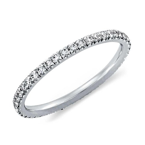 cz halo licliz solitaire cubic sterling products zirconia silver bands image band product eternity ring