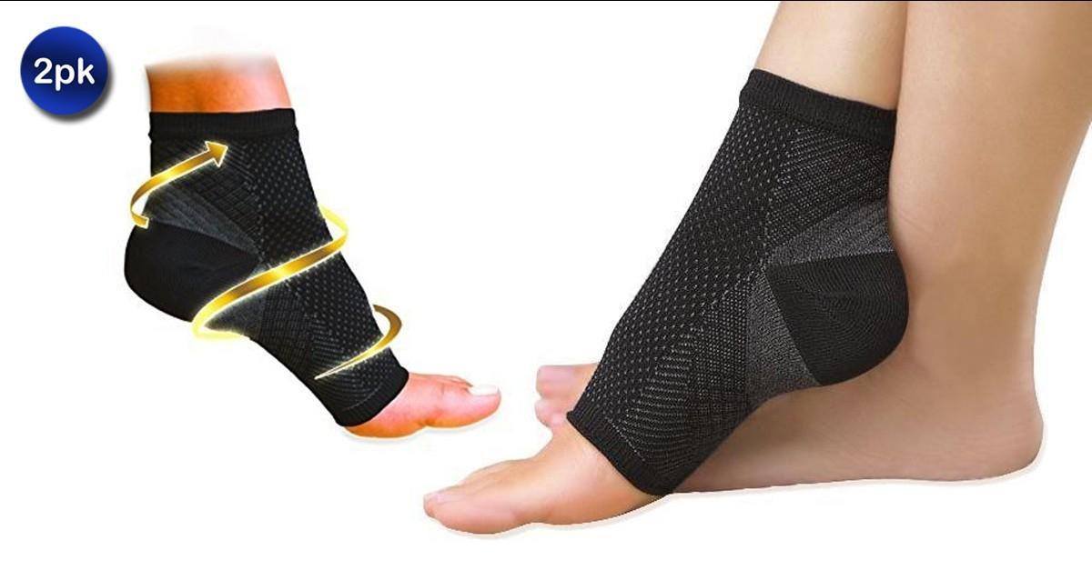 2 Pack: Plantar Fasciitis Foot Sleeves