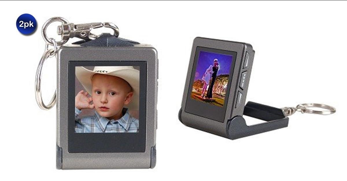 2 Pack: Digital USB Digital Picture Frame Keychain