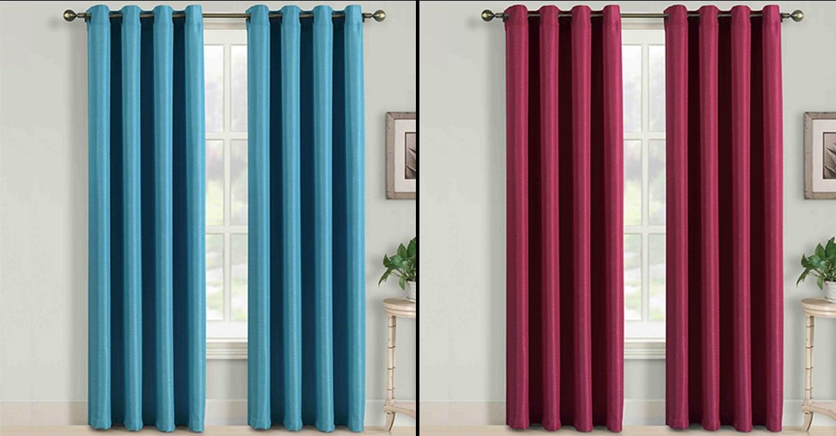 2 Piece Soho Window Panel Curtain Set - 4 Colors