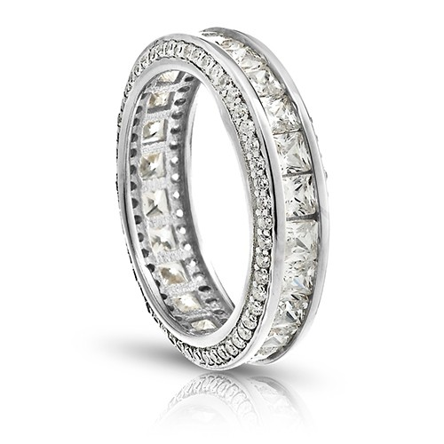 ring cubic eternity promise bands band zirconia stackable cz