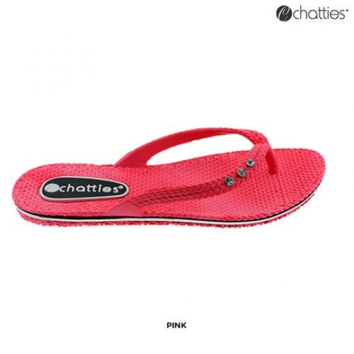 c1c649785124a8 2 Pairs  Chatties Women s Comfy Flip-Flops with Rhinestones - 5 Colors  Available