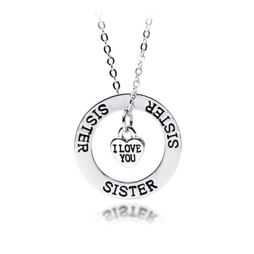 Love You Sis Hawa: Sister I Love You Necklace