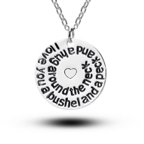 "I Love You A Bushel And A Peck Necklace: ""I Love You A Bushel And A Peck And A Hug Around The Neck"