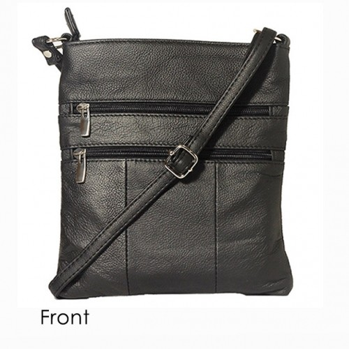 Black Super Soft Leather Venzillino Crossbody Bag