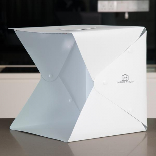 Shibusa Home Photo Studio Lightbox with Bonus 360/° Turntable Large