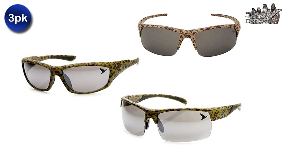 3 Pack: Duck Dynasty Brown Camo Style Sunglasses Duck