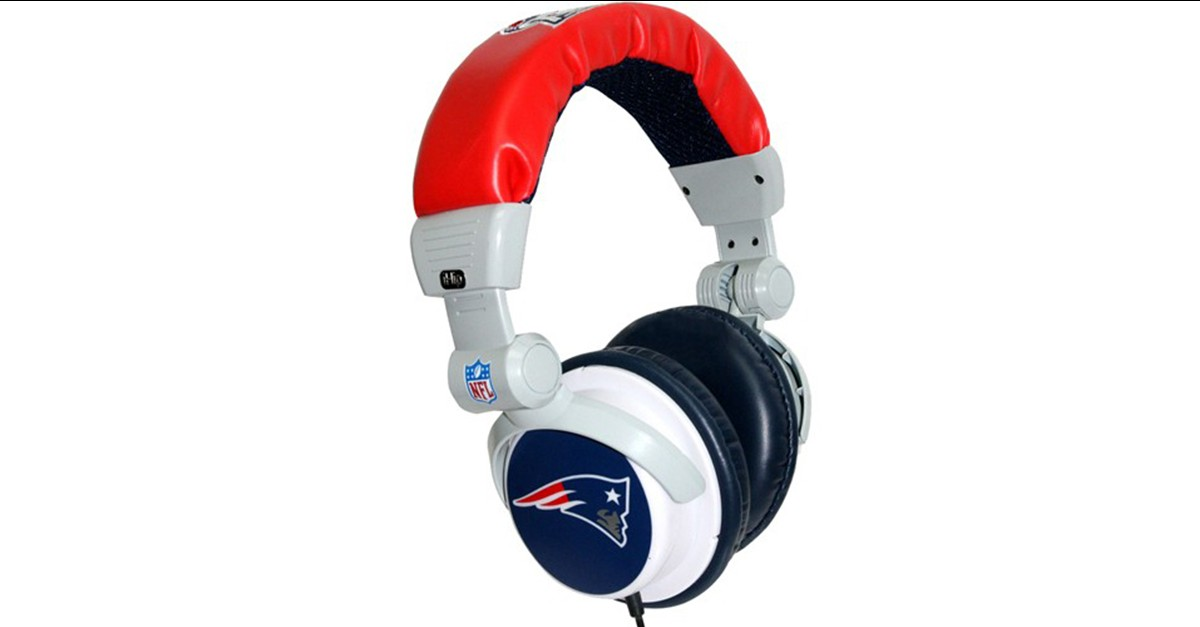 56b36ef7 iHip Officially Licensed NFL PRO DJ Headphones with Mic - Patriots