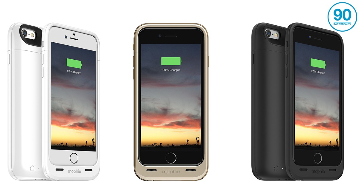 wholesale dealer 25f99 cd01c Mophie Juice Phone Case Battery Pack for iPhone 6 - 6 Colors