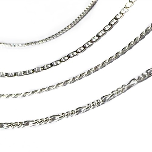 Italian Sterling Silver Chain 4 Styles