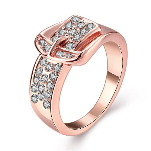 Rose Gold Belt Buckle Ring