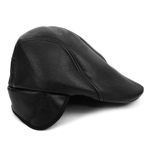 63d9912f2b653a Fall/Winter Traditional Leather Ivy Hat with Ear Flaps