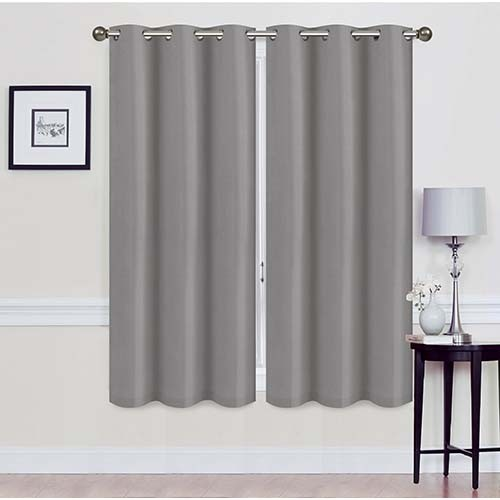 2 Panel Blackout Curtains With Foam Backing