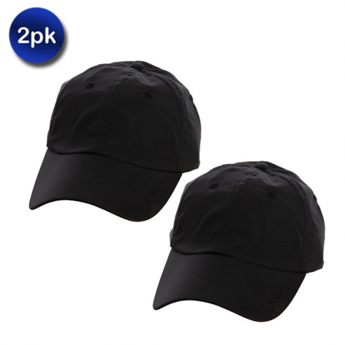 2 Pack: Xcap by Kombi Baseball Cap with Built-in Retractable Sunglasses  Holder - 2 Colors