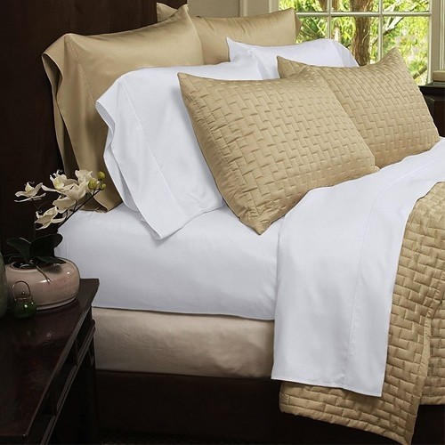 Nice 4 Piece Set: Hotel 1800 Series Organic Bamboo Bed Sheets